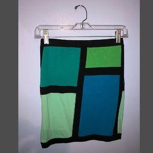 Charlotte Russe color block skirt